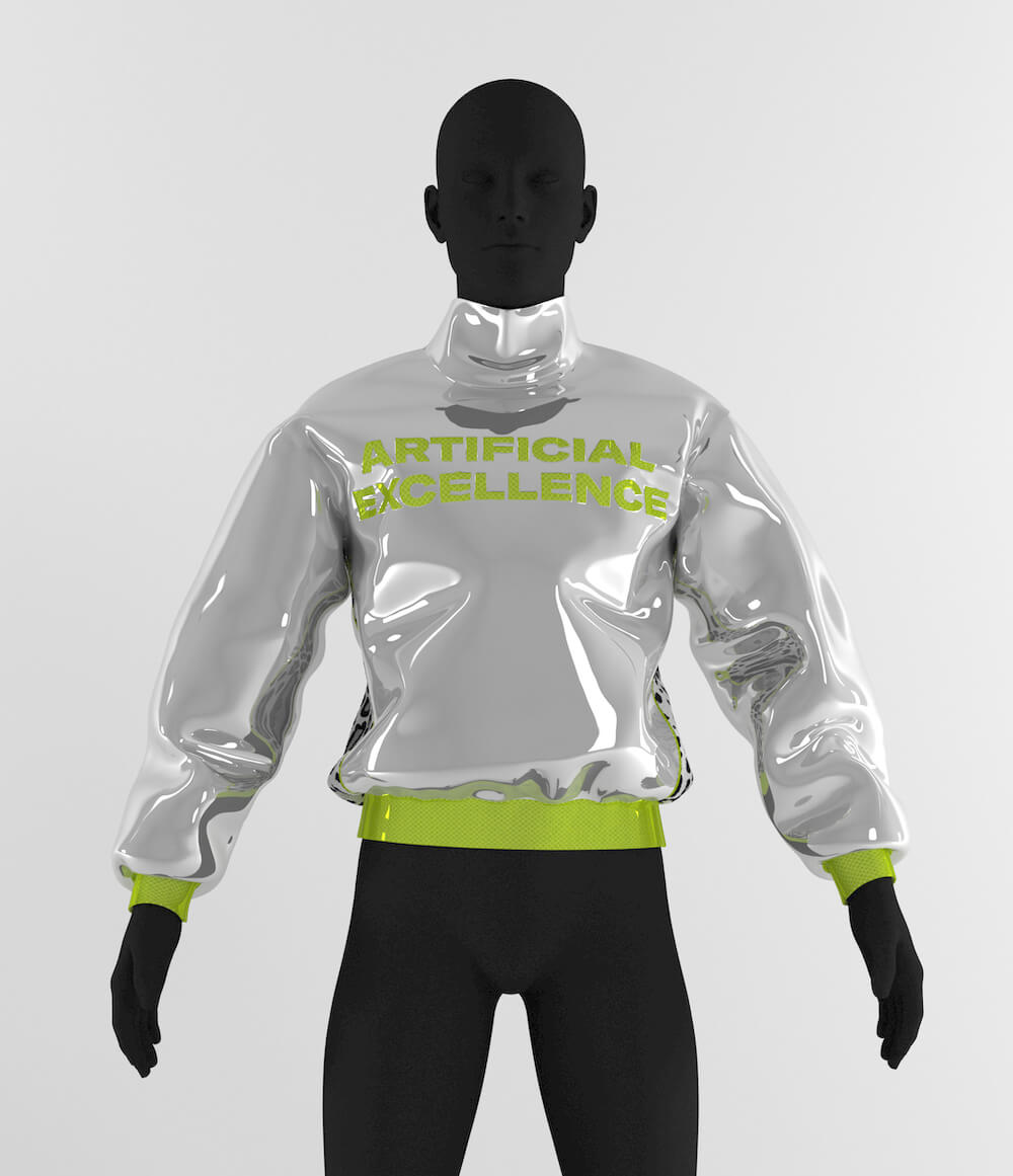 Silverhood metallic track top
