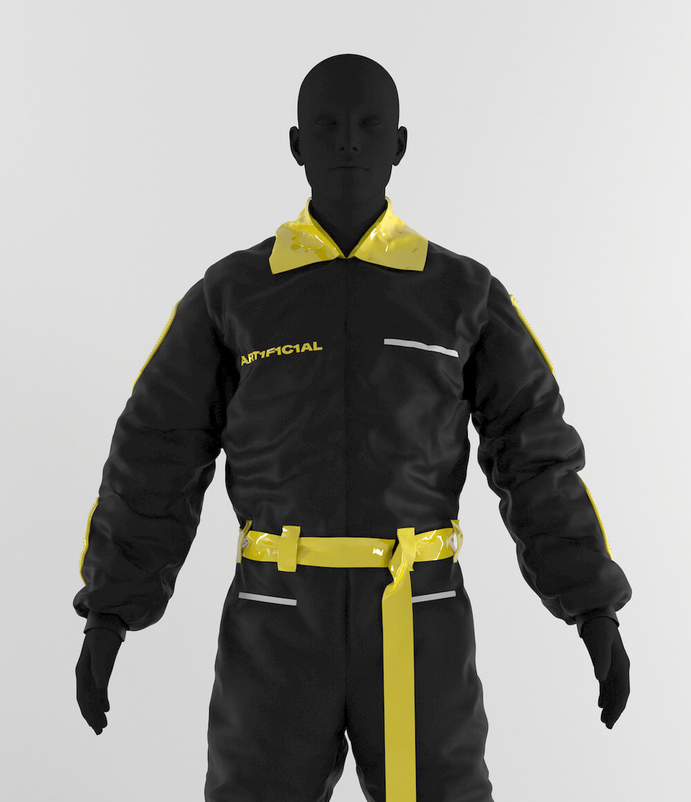 Black Streak Boiler Suit